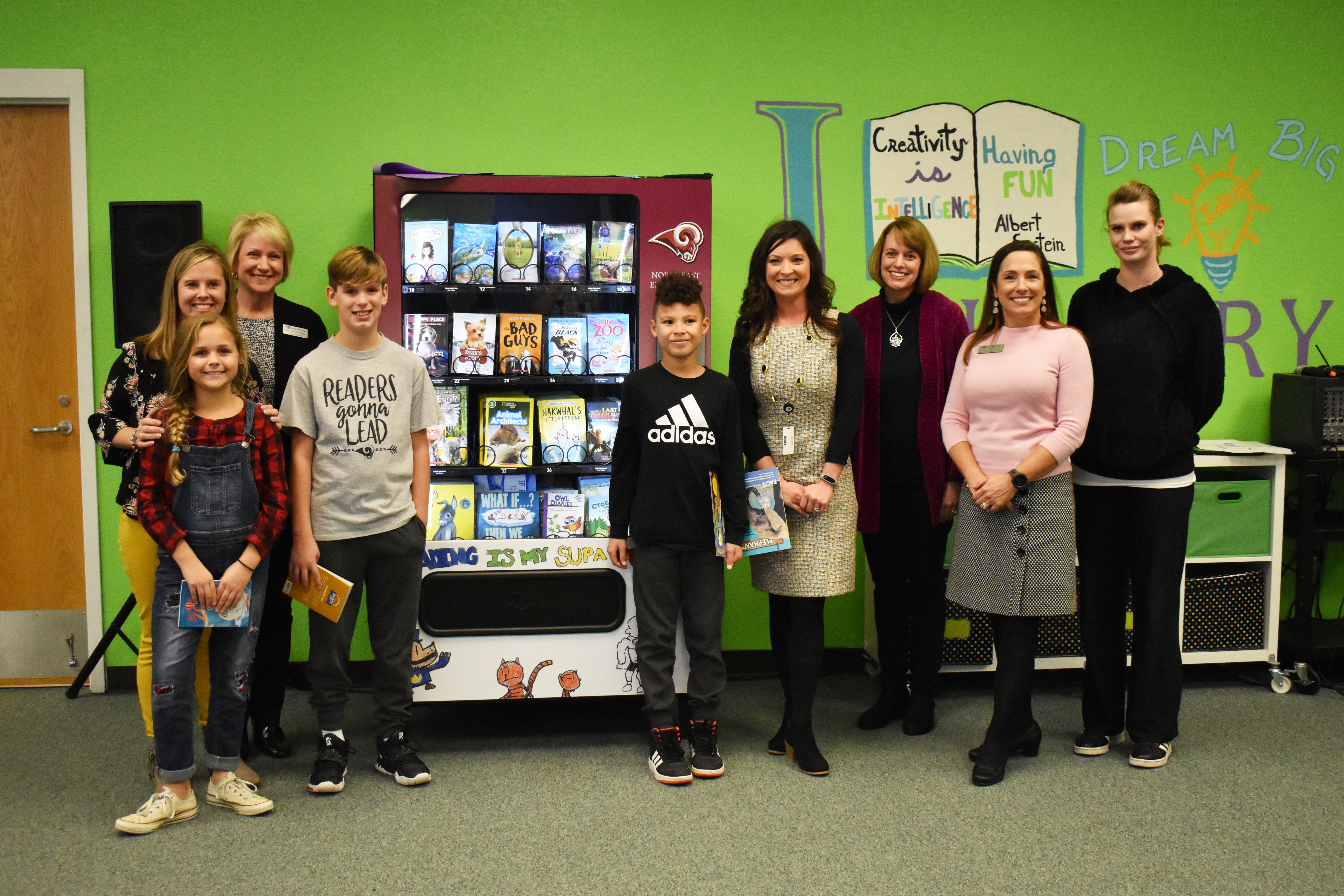 Northeast Elementary Installs Book Vending Machine That Rewards Good Character with a New Book